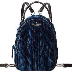 Kate Spade Mini Convertible Velvet Backpack NWT